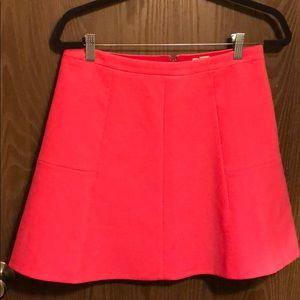 Women's J.crew Hot Pink skirt. Sz6.